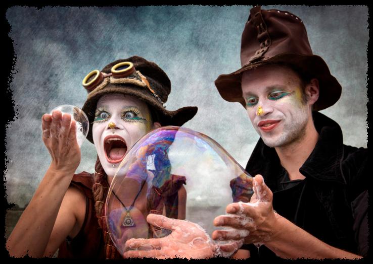 Bubblica zeepbellen straattheater artiesten